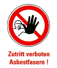 Warnschild Asbest