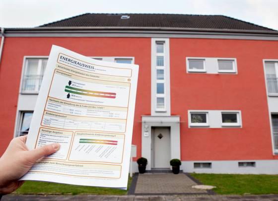 Energiepass eines Wohnhauses