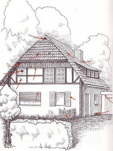 Versteckmöglichkeiten am Haus