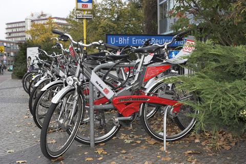 Mietfahrräder der Deutschen Bahn